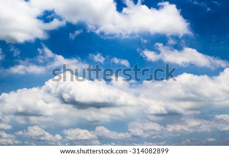 Cloud sky in afternoon of Thailand. #314082899