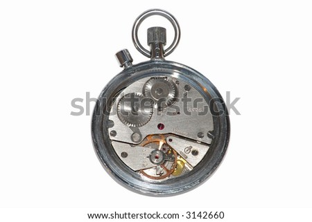 The mechanism of a manual stop-watch #3142660