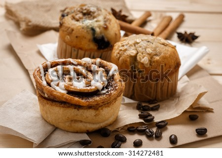Testy Muffins and Cinnamon roll from the bakery  #314272481