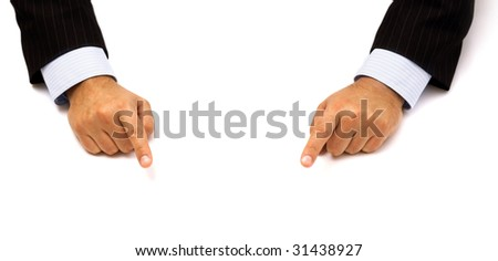 businessman's hands pointing fingers #31438927