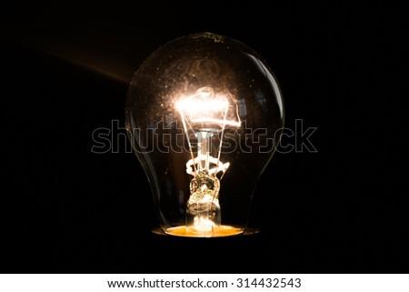Light bulb close up #314432543
