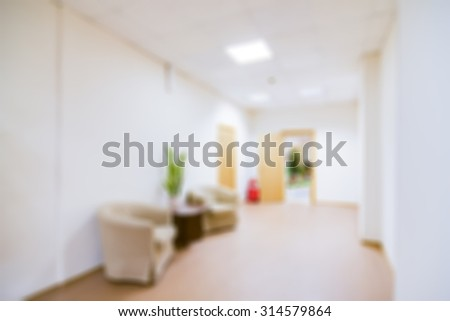 Office interior theme creative abstract blur background with bokeh effect #314579864