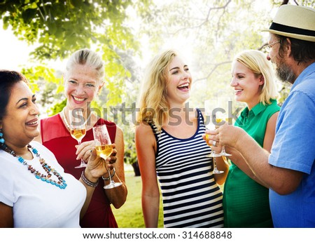 Diverse People Party Togetherness Friendship Concept #314688848
