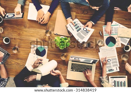 Marketing Analysis Accounting Team Business Meeting Concept Royalty-Free Stock Photo #314838419