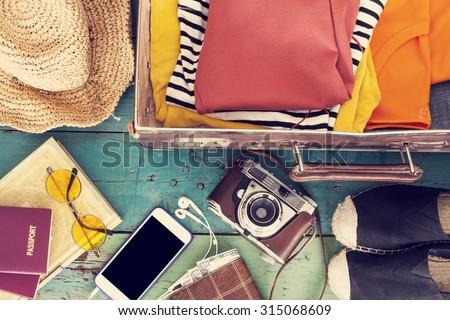 Holiday suitcase Royalty-Free Stock Photo #315068609