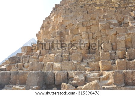 stone pyramid of Cheops #315390476