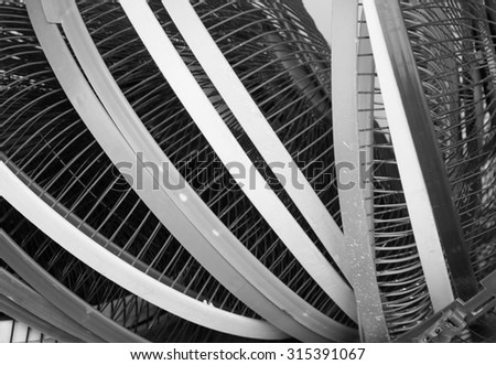 Texture or pattern of fan cover  , black and white #315391067