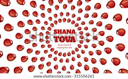 SHANA TOVA - Greeting card for inspiring and sweet new year #315506261