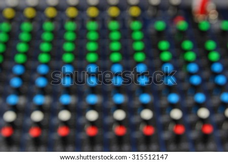 Blur knob colors Sound mixer #315512147