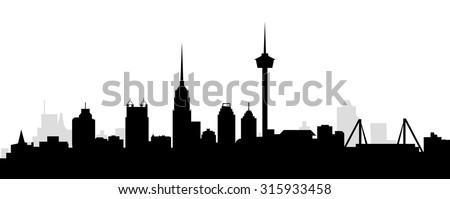 San Antonio Morning City Skyline