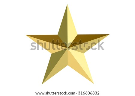Golden Star isolated on white background #316606832