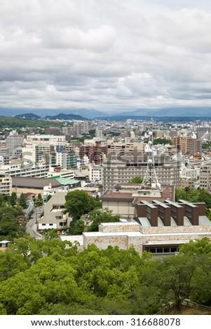 Kumamoto city, a medium-sized city in Japan #316688078