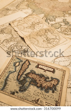 World map of Antique #316700099