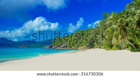 Anse Soleil - Paradise beach on tropical island Mahe #316730306