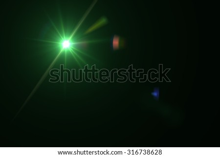 digital lens flare in black background horizontal frame warm #316738628