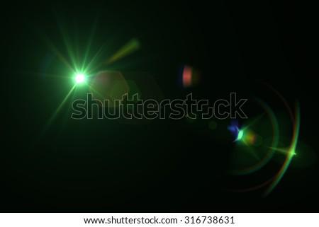 digital lens flare in black background horizontal frame warm #316738631