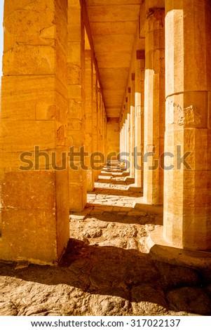 Queen Hatshepsut's temple (Dayr el-Bahari or Dayr el-Bahri) in Egypt, part of the Theban Necropolis. #317022137