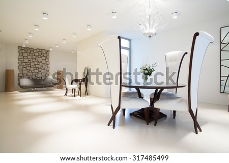 Picture of exclusive interior with modern furniture
