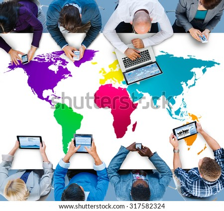 World Global Cartography Globalization Earth International Concept #317582324