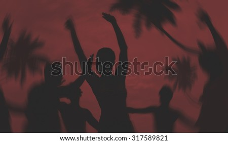 People Celebration Beach Party Summer Holiday Vacation Concept #317589821