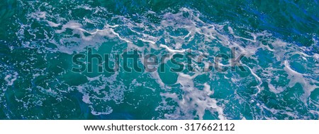 sea waves, foam, top view #317662112