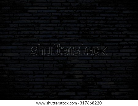 dark brick wall for background or texture #317668220