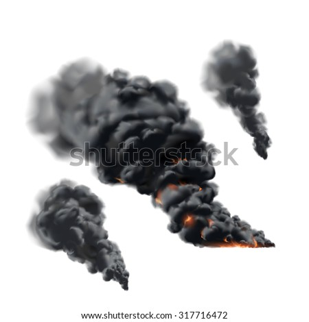 Big fire smoke set