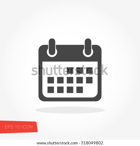 Calendar Isolated Flat Web Mobile Icon / Vector / Sign / Symbol / Button / Element / Silhouette Royalty-Free Stock Photo #318049802