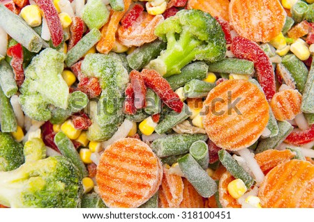 Frozen vegetables Royalty-Free Stock Photo #318100451