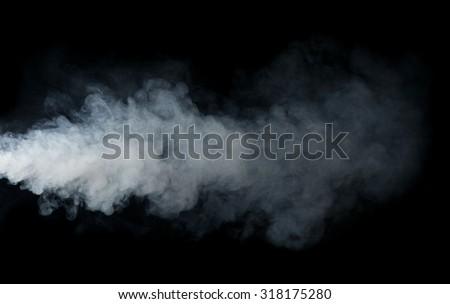 Smoke isolated on black background #318175280
