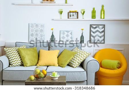 Modern living room interior #318348686
