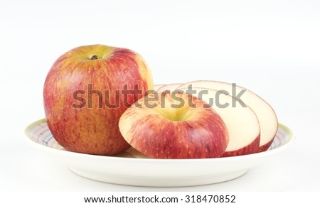 Sliced apple over white background  #318470852