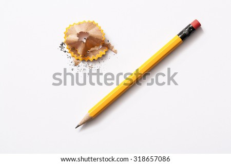 pencil isolated on white background  Royalty-Free Stock Photo #318657086