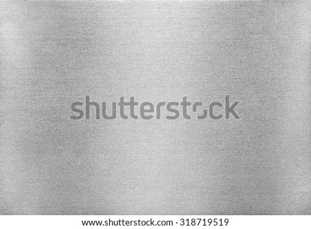 Metal texture background. Macro photo of brushed aluminium. #318719519