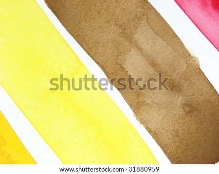 yellow brown and red paint striped background diagonal #31880959