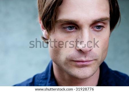 Unhappy Depressed Man #31928776