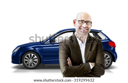 Car Vehicle Hatchback Transportation 3D Illustration Concept #319299632