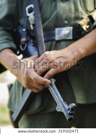 WWII German gendarme #319502471