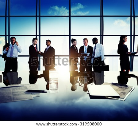Business People Corporate Team Discussion Meeting Concept #319508000