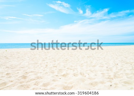 Empty sea and beach background with copy space #319604186