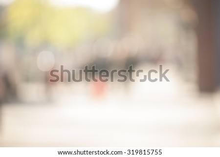 City commuters at sunset. Blurred background image for business, modile apps, and other uses. #319815755