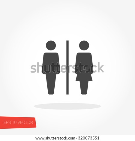 Bathroom Sign Royalty-Free Stock Photo #320073551