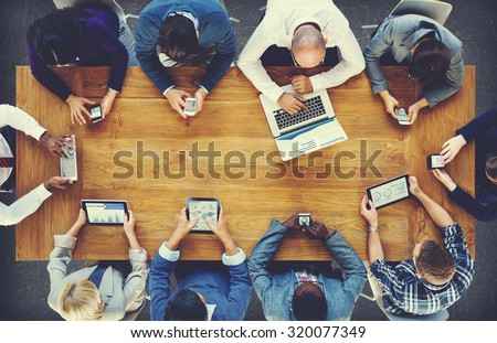 Group Business People Corporate Meeting Concept Royalty-Free Stock Photo #320077349