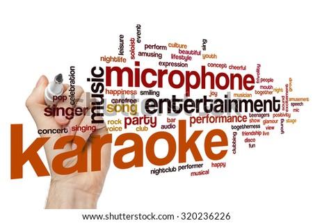 Karaoke word cloud #320236226