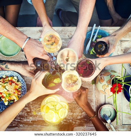 Food Table Healthy Delicious Organic Meal Concept #320237645