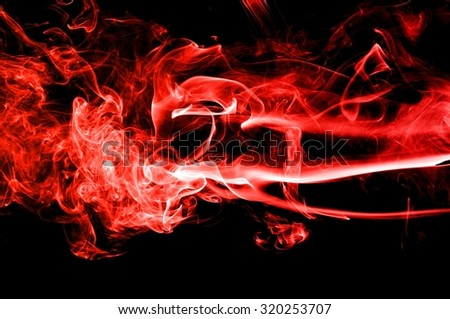movement of red smoke,Abstract red smoke on black background, smoke background,red ink background,red  fire,beautiful color smoke #320253707