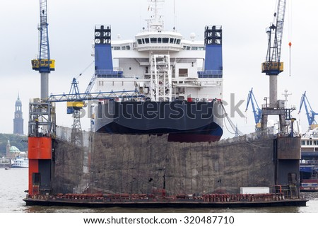 Shipyard in Hamburg, Germany #320487710