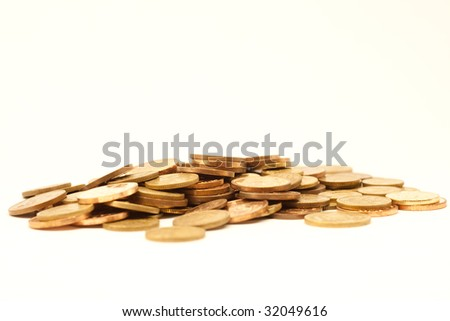 This is a pile of coins #32049616