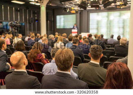 Business Conference and Presentation. Audience at the conference hall. #320620358