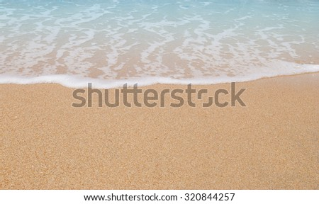 Beach wave background #320844257